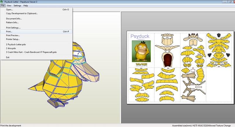 Psyduck - Imprimir papercraft